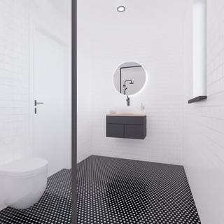 Vizualizácia interiéru prestavby rodinné domu - kúpelňa
