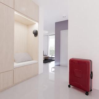 Vizualizácia interiéru 3 izbového bytu chodba