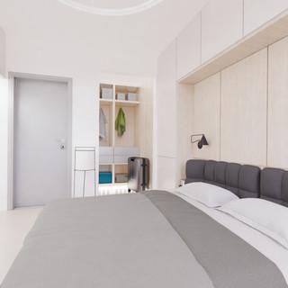 Vizualizácia interiéru - spálňa