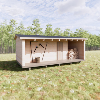 Vizualizácia exteriéru drevenice