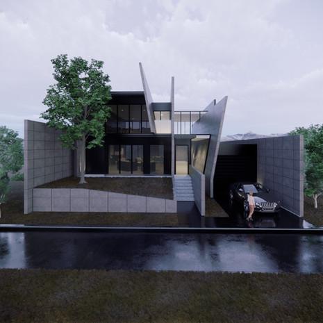 Vizualizácia betónový rodinný dom