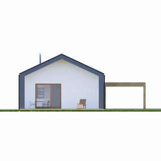 Vizualizácia exteriéru rodinného domu - biela a antracitová fasáda
