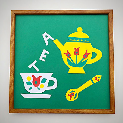 コラージュフレーム TEA TIME
