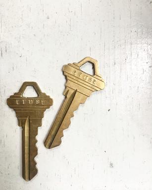 hand stamped keys