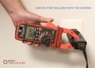iDVM550 Clamp Meter Includes Line Splitter