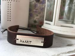 stamped leather bracelet