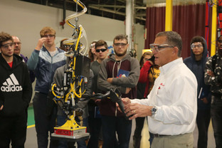 Manufacturing Day at Ingersoll-Rand Lift Systems in Madison Heights, Michigan.