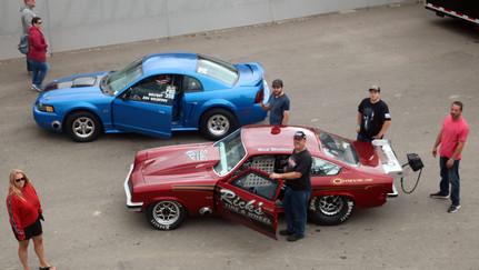 Drag Racing at Lapeer Dragway in Lapeer, Michigan.