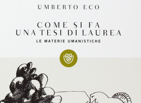 """""""Come si fa una tesi di laurea"""" di Umberto Eco"""