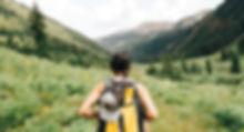 Girl Vandring i bergen