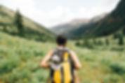 Jente Vandring i fjellene