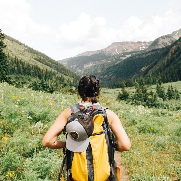 woman going on a hike