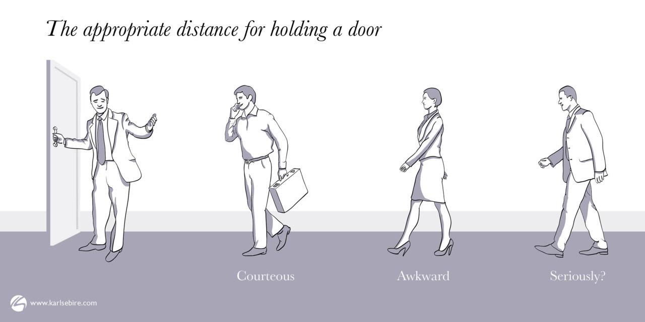 Holding a door