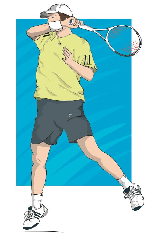 Tennis Illustration - Editorial