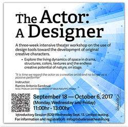 The Actor as A Designer Workshop