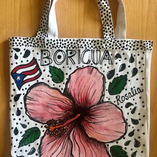 Puerto Rican Hisbiscus Flower Tote