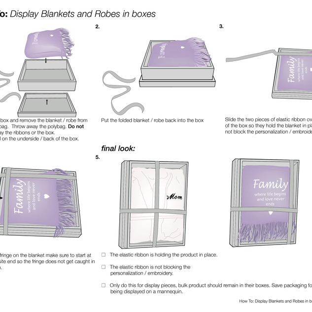 How to Fold and Box Blankets