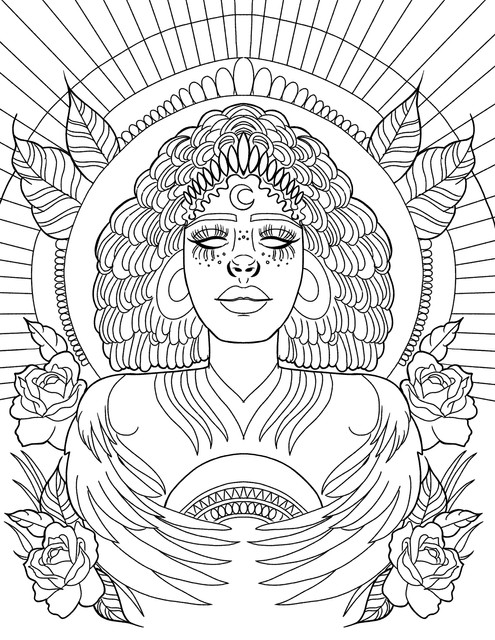 The Night Warrior coloring page