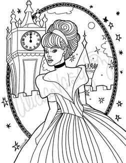 Cinderella coloring page