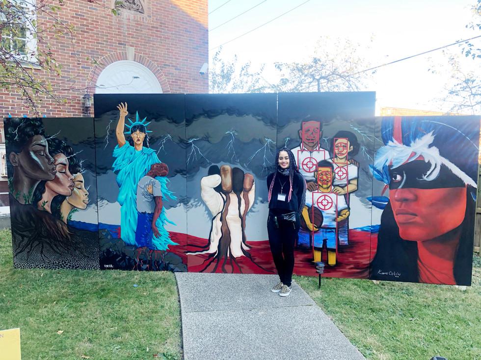 Alicia Vasquez with Mural