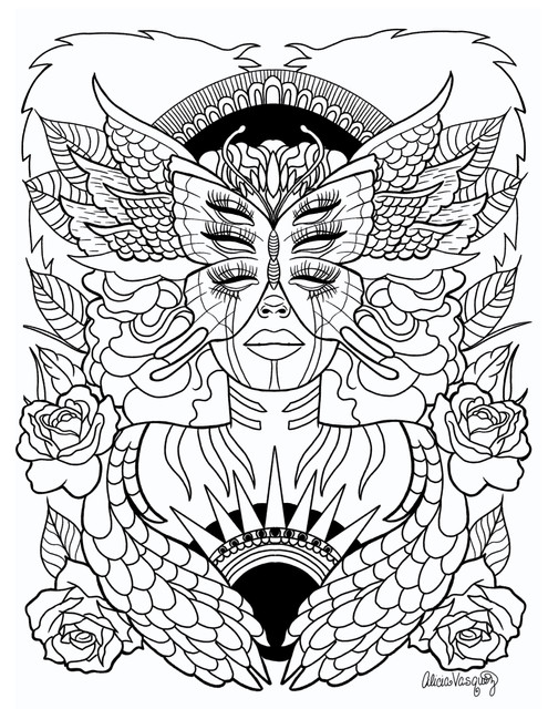 The Day Warrior coloring page