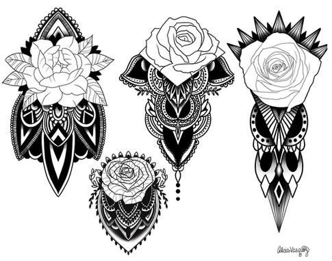 arm mandala geometric designs