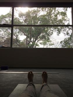 Savasana with a view