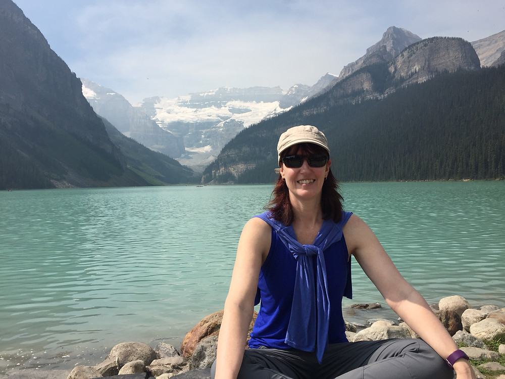 Me at Lake Louise (technically not Banff!) in summer 2018