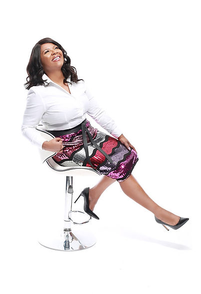 Black Woman Laughing and Smiling