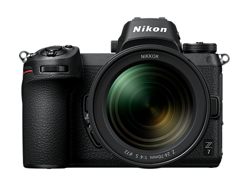 Nikon Z7 with 24-70mm lens and FTZ Adapter