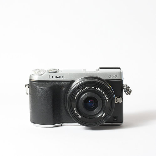 Panasonic GX7 Silver & Olympus 14-42mm EZ