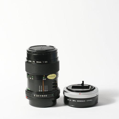Canon FD 50mm F3.5 Macro & Extension Tube 25
