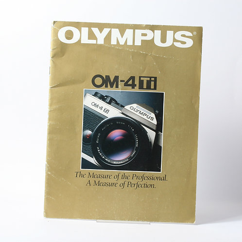 Olympus OM-4 Ti A Measure of Perfection Brochure