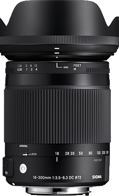 Sigma DC 18-300mm F3.6-6.3 Macro OS HSM - Canon Fit