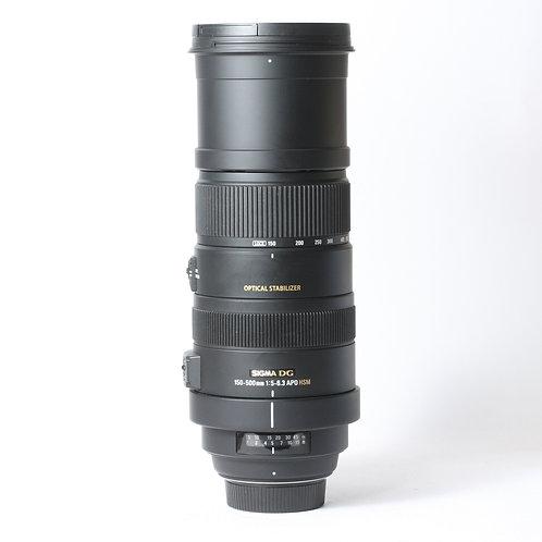Sigma DG 150-500mm F5-6.3 APO OS HSM