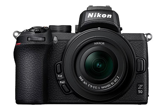 Nikon Z50 with 16-50mm lens & FTZ Adapter