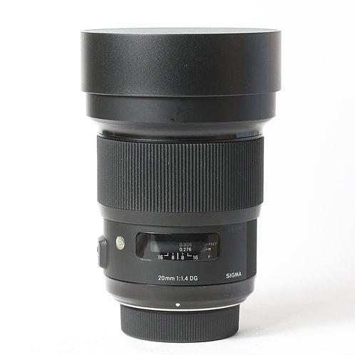 Sigma DG 20mm F1.4 Art