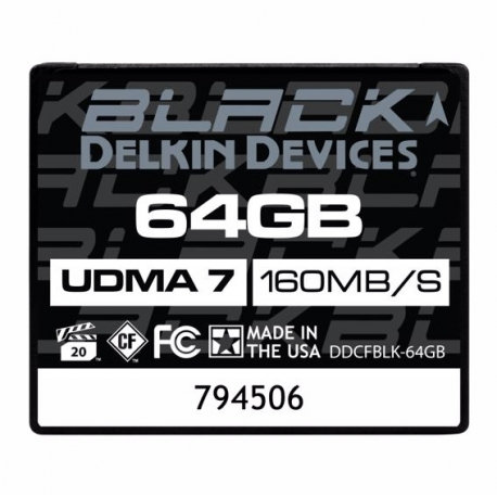Delkin 64GB Black Rugged CF Card