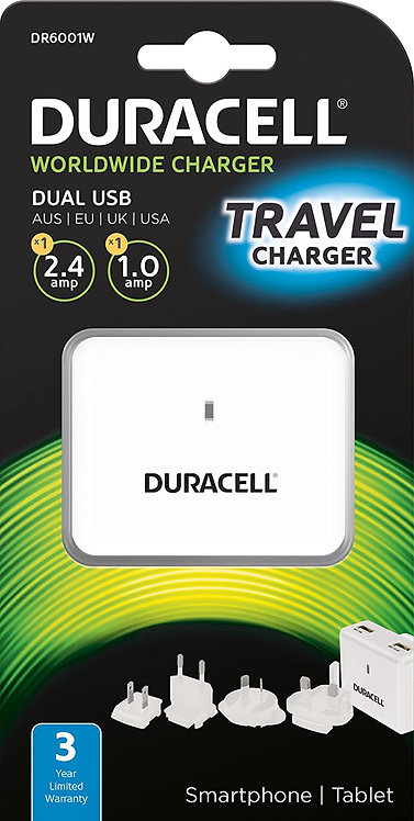 Duracell Travel Charger Dual USB
