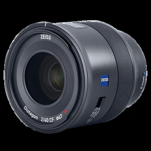 Zeiss 40mm F2 CF Batis - Sony FE Fit