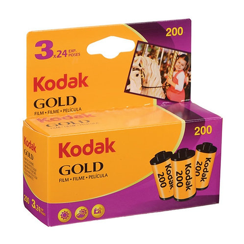 Kodak Gold 200 35mm Film (24 exp) Triple pack