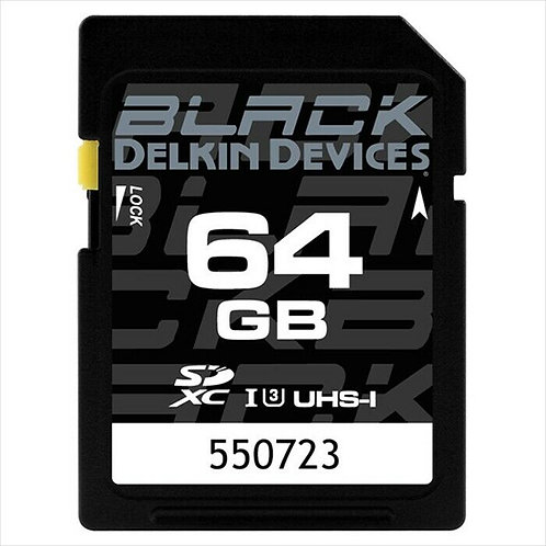 Delkin 64GB Black Rugged SD Card