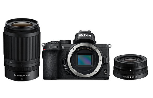 Nikon Z50 with 16-50mm VR and 50-250mm VR Lenses
