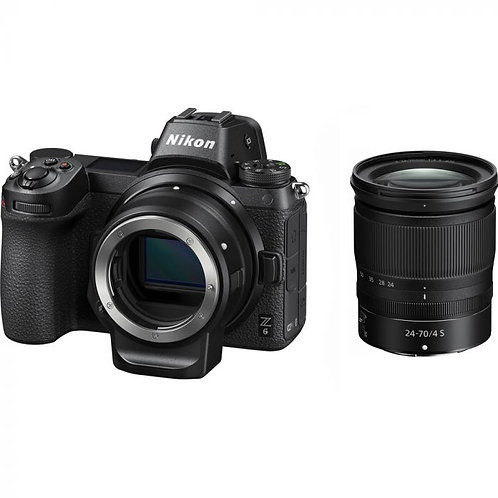 Nikon Z6 with 24-70mm lens and FTZ Adapter