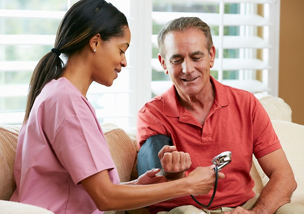 blood pressure reading for patient at home