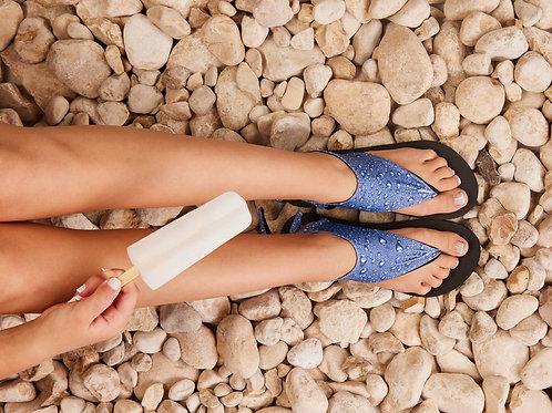 סנדל קיץ עם גרב עליונה- טיפות מים