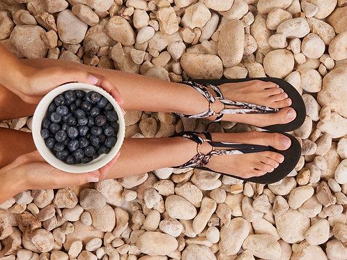 סנדל קיץ עם שרוכים קצרים -שוקולד וניל