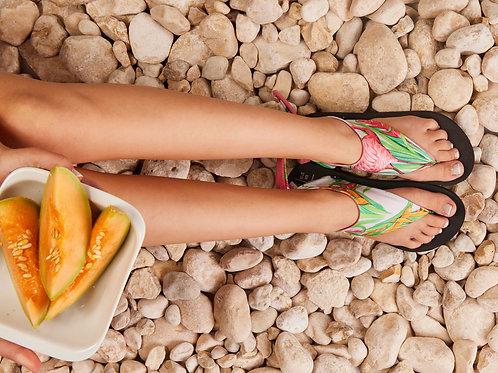סנדל קיץ עם גרב עליונה - גן שושנים