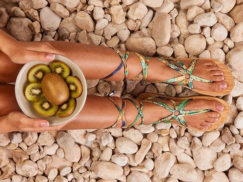 סנדל קיץ עם שרוכים ארוכים - ג׳ונגל