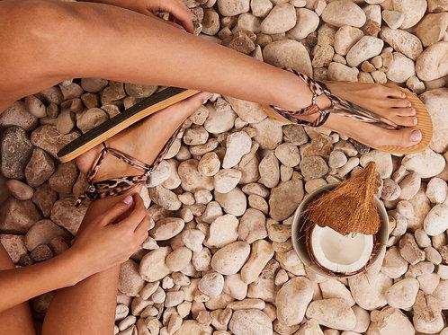 סנדל קיץ עם שרוכים קצרים -מנומר